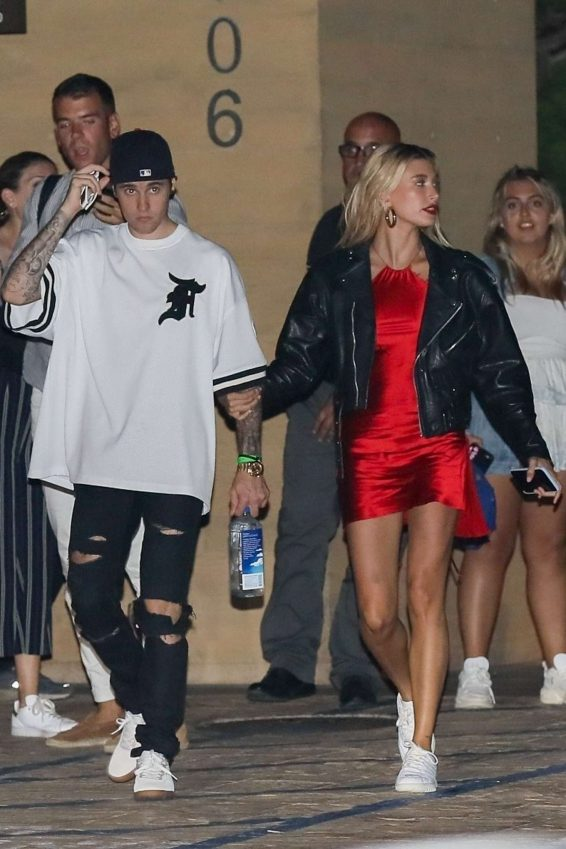 Hailey Baldwin and Justin Bieber - Leaves Nobu in Malibu