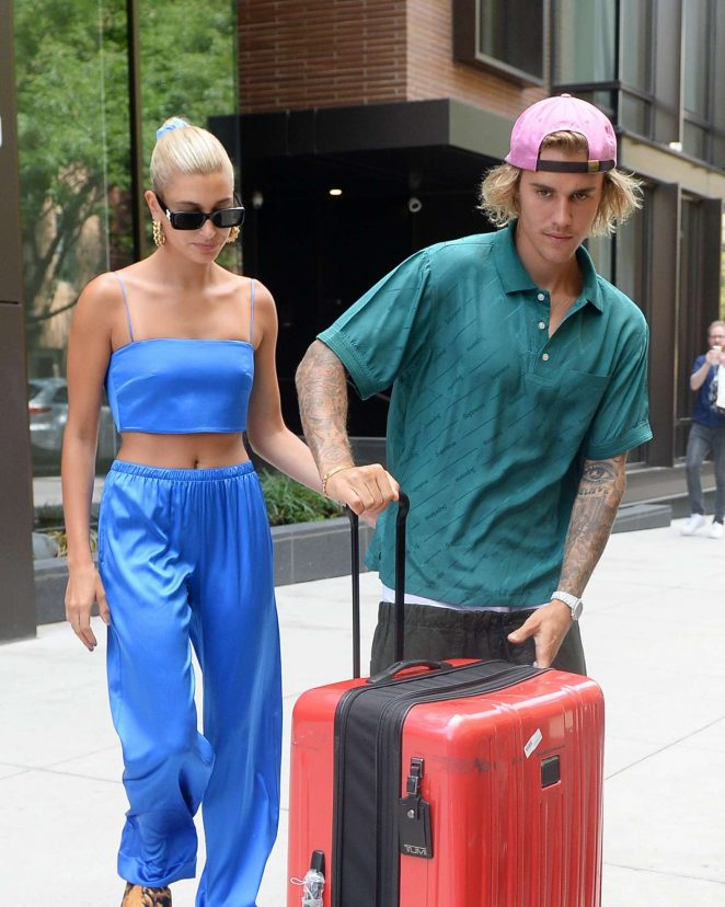 Hailey Baldwin and Justin Bieber - Leaving their apartment in Brooklyn