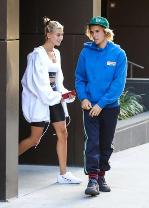 Hailey Baldwin and Justin Bieber - Leaving their hotel in New York City