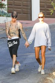 Hailey Baldwin and Justin Bieber - Out and about in Hollywood