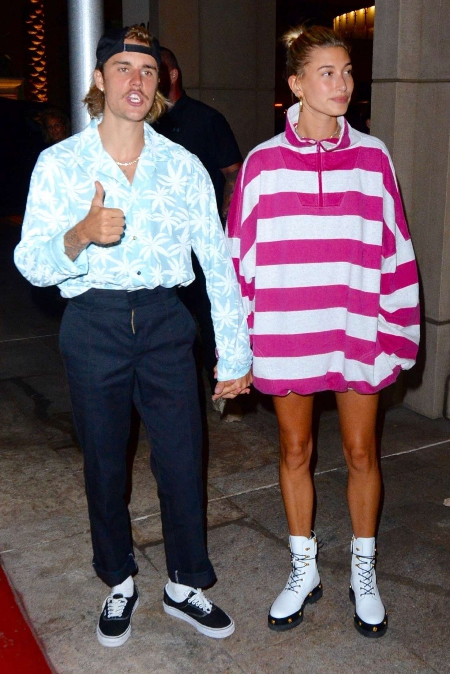 Hailey Baldwin and Justin Bieber - Out for a dinner in Beverly Hills