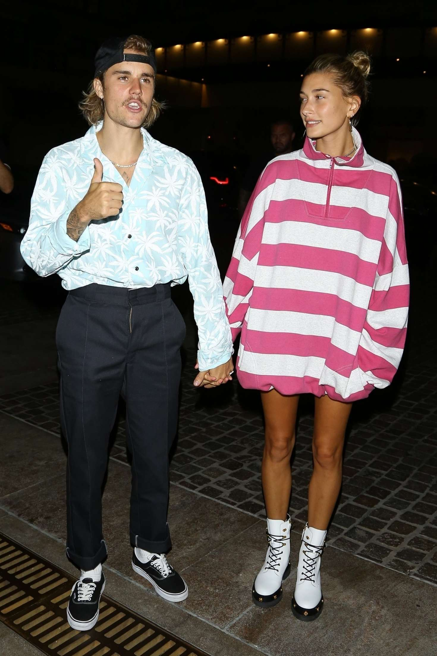 Hailey Baldwin 2018 : Hailey Baldwin and Justin Bieber: Out for a dinner -12