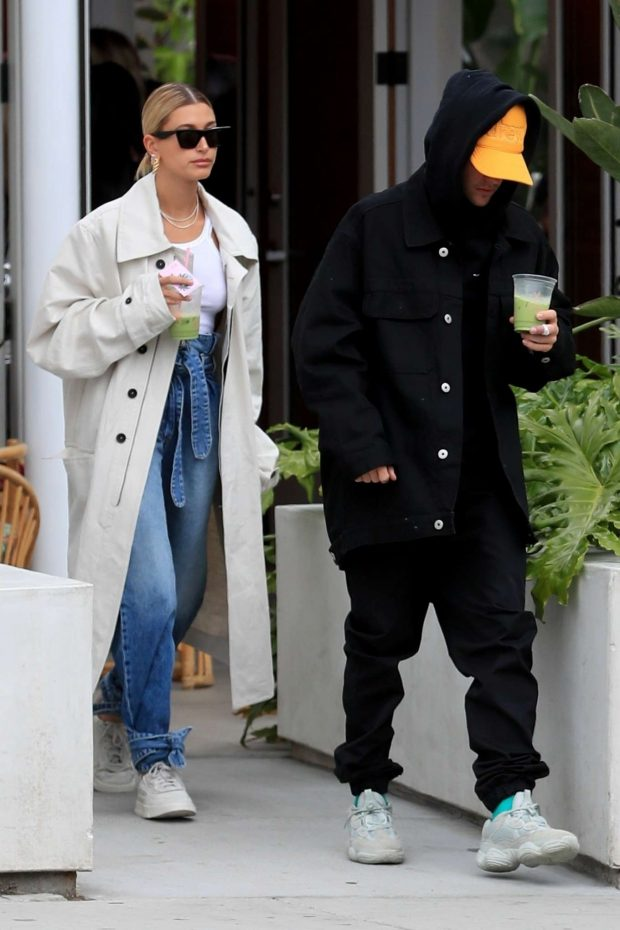 Hailey Baldwin and Justin Bieber - Out from Cha Cha Matcha in West Hollywood