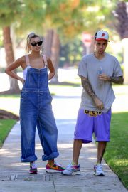 Hailey Baldwin and Justin Bieber - Out in Beverly Hills