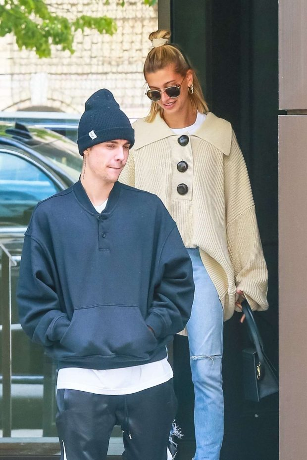 Hailey Baldwin and Justin Bieber - Out in NYC
