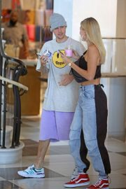 Hailey Baldwin and Justin Bieber - Shopping at Barney's New York in Los Angeles