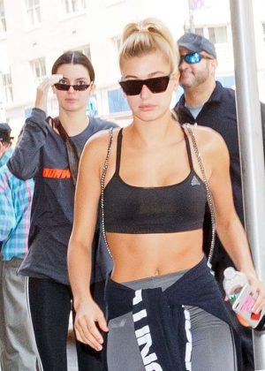 Hailey Baldwin and Kendall Jenner Leaving the Gotham Gym in New York