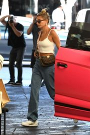 Hailey Baldwin - Arrives at a dermatologist office with Justin in Beverly Hills