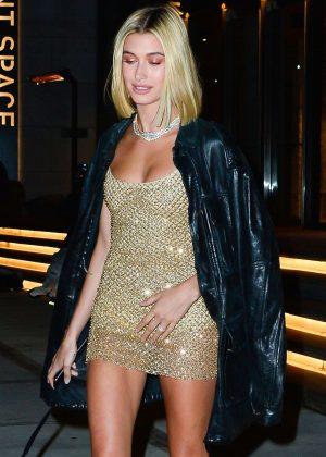 Hailey Baldwin - Arrives at Gigi Hadid's 23rd Birthday Party in NY