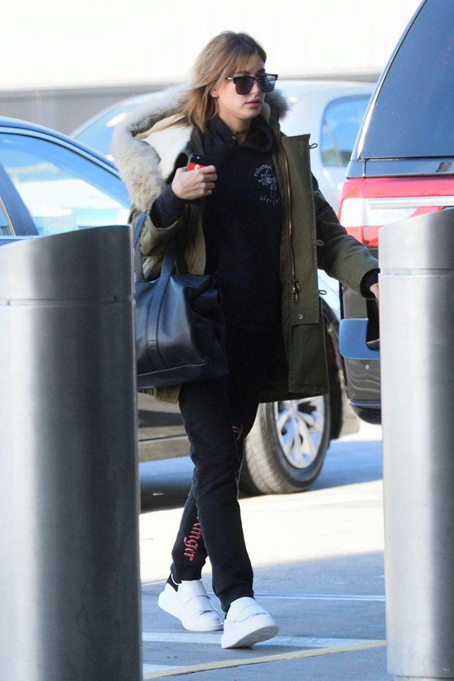 Hailey Baldwin at JFK Airport in New York