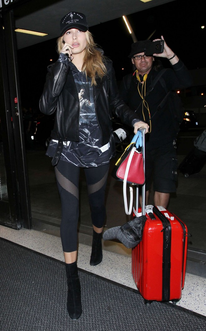 Hailey Baldwin at LAX airport in LA