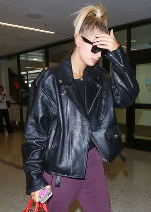 Hailey Baldwin at LAX Airport in Los Angeles
