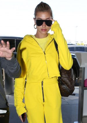 Hailey Baldwin at LAX International Airport in LA