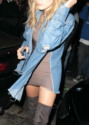 Hailey Baldwin - Celebrating her 19th Birthday in Hollywood