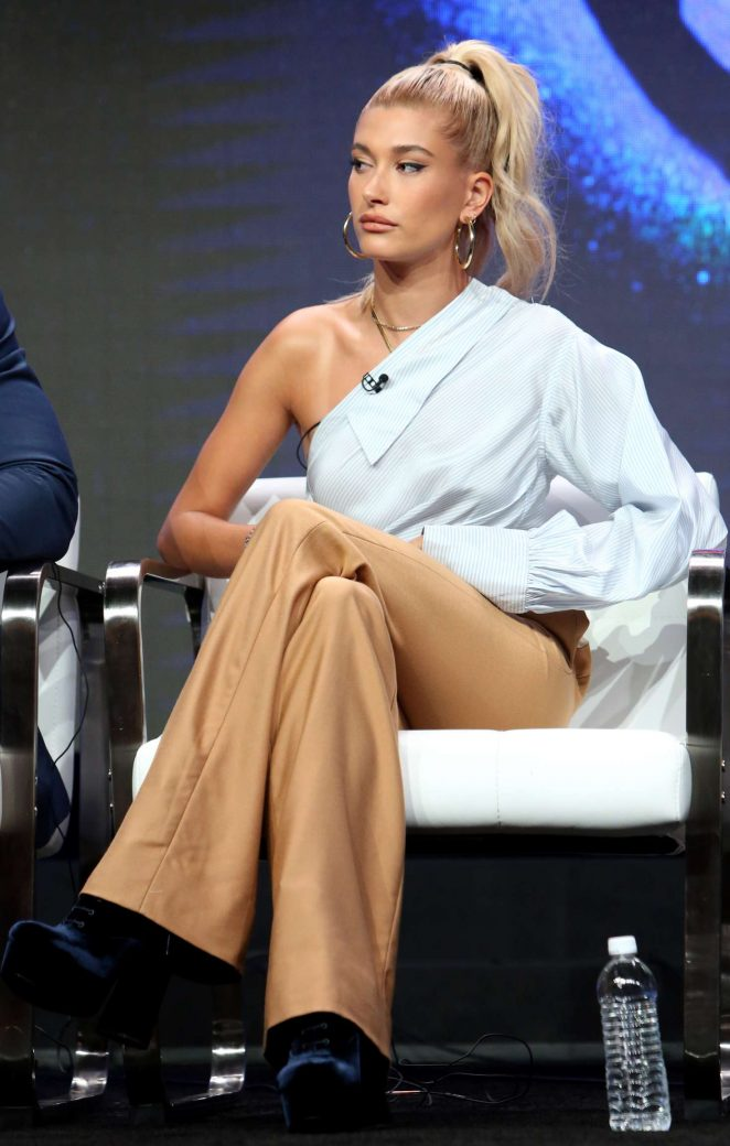 Hailey Baldwin - 'Drop the Mic' TV Show Panel at 2017 TCA Summer Press Tour in LA