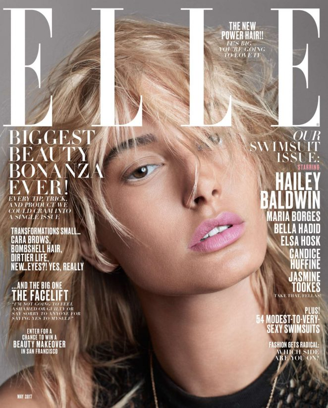 Hailey Baldwin for ELLE US Cover (May 2017)