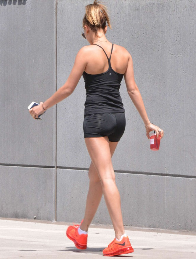 Hailey Baldwin in Short Shorts out in NY