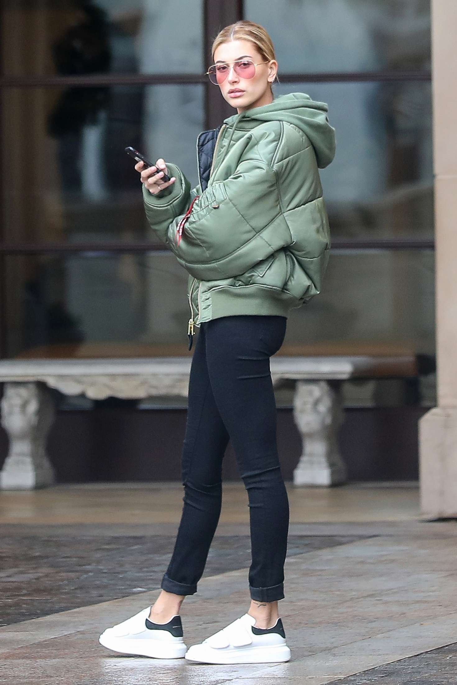 Hailey-Baldwin-in-Tights-Out-in-Beverly-