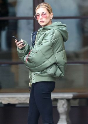 Hailey Baldwin in Tights Out in Beverly Hills