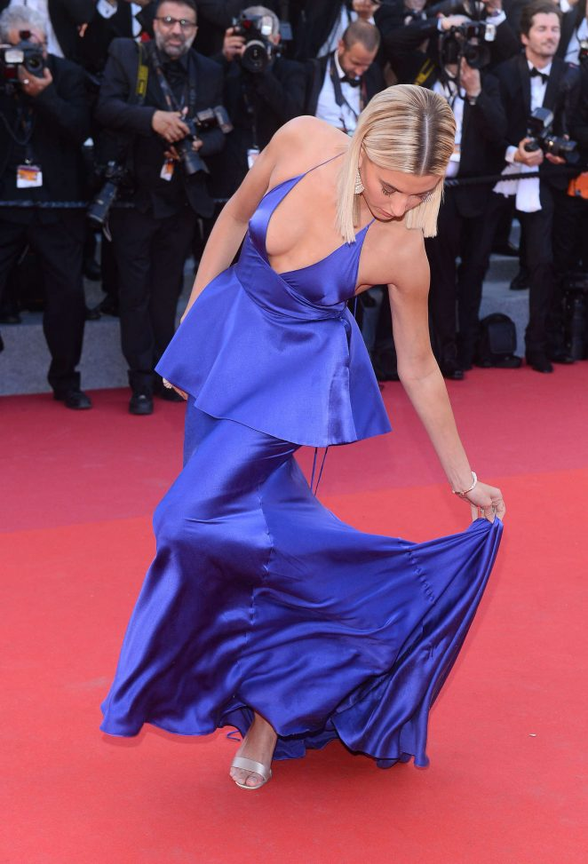 Hailey Baldwin – 'Ismael's Ghosts' Screening at 70th Annual Cannes Film Festival in France