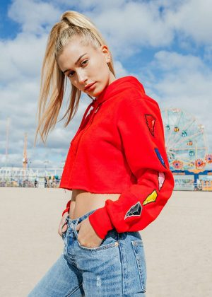 Hailey Baldwin - Kith x Power Rangers Photoshoot (October 2016)