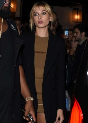 Hailey Baldwin - Le Six Seven Nightclub in Paris