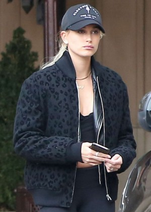 Hailey Baldwin Leaves Montage Hotel in Beverly Hills