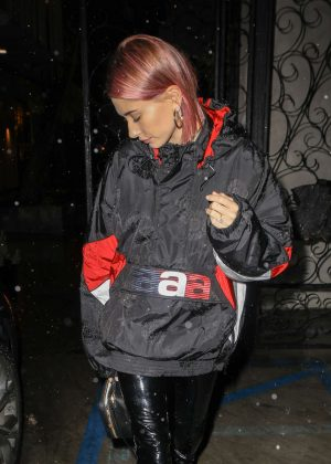 Hailey Baldwin - Leaving a hair salon in West Hollywood