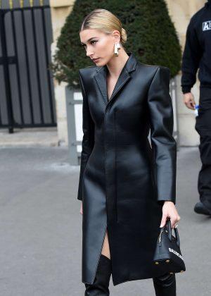 Hailey Baldwin - Leaving her hotel in Paris