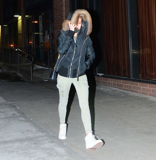 Hailey Baldwin - Leaving 'Lucky Strike' in NYC