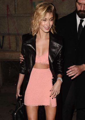 Hailey Baldwin - Leaving the ADR Party in Milan