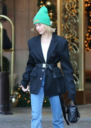 Hailey Baldwin - Leaving the Montage Hotel in Beverly Hills