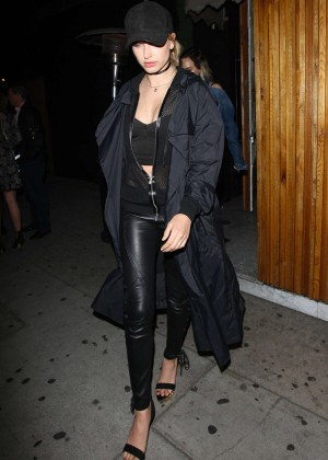 Hailey Baldwin - Leaving The Nice Guy Club in West Hollywood