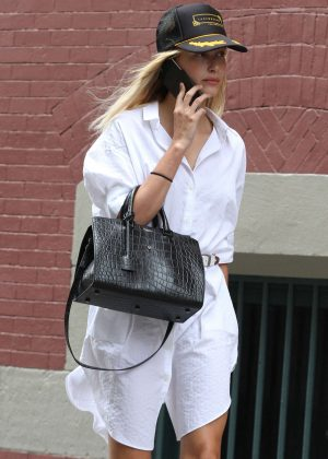 Hailey Baldwin out and about in Soho
