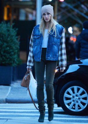 Hailey Baldwin out in Tribeca