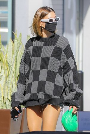 Hailey Baldwin - Seen on street of West Hollywood