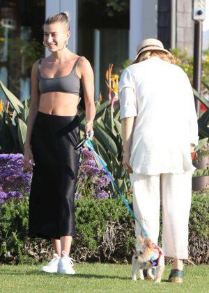 Hailey Baldwin - Seen Out Solo In Laguna Beach