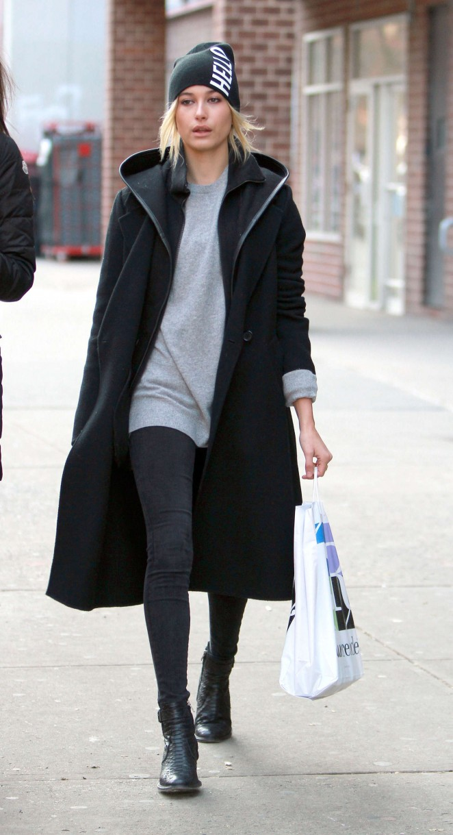 Hailey baldwin street style out and about in new york - Bureau style new york ...