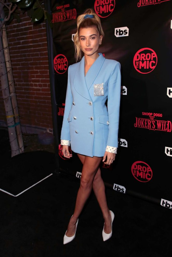 Hailey Baldwin – TBS' Drop the Mic and The Joker's Wild Premiere Party in Hollywood
