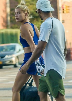 Hailey Baldwin with Lewis Hamilton in New York