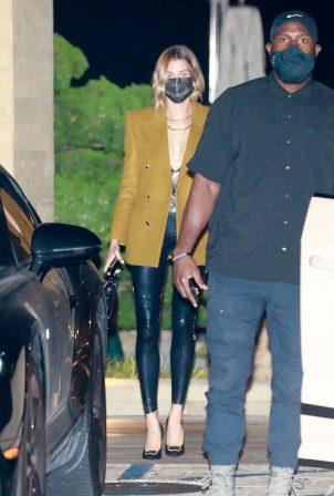 Hailey Bieber and Justin Bieber - On a dinner date in Malibu