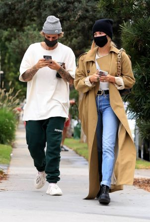 Hailey Bieber and Justin Bieber - Running errands in Brentwood