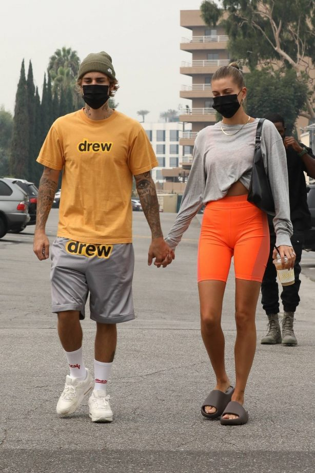 Hailey Bieber and Justin Bieber - Seen while hold hands in Beverly Hills
