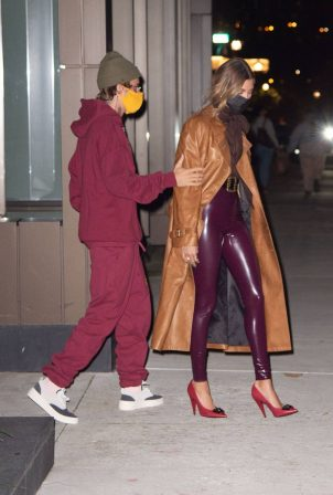 Hailey Bieber and Justin Bieber - step out for dinner in New York City