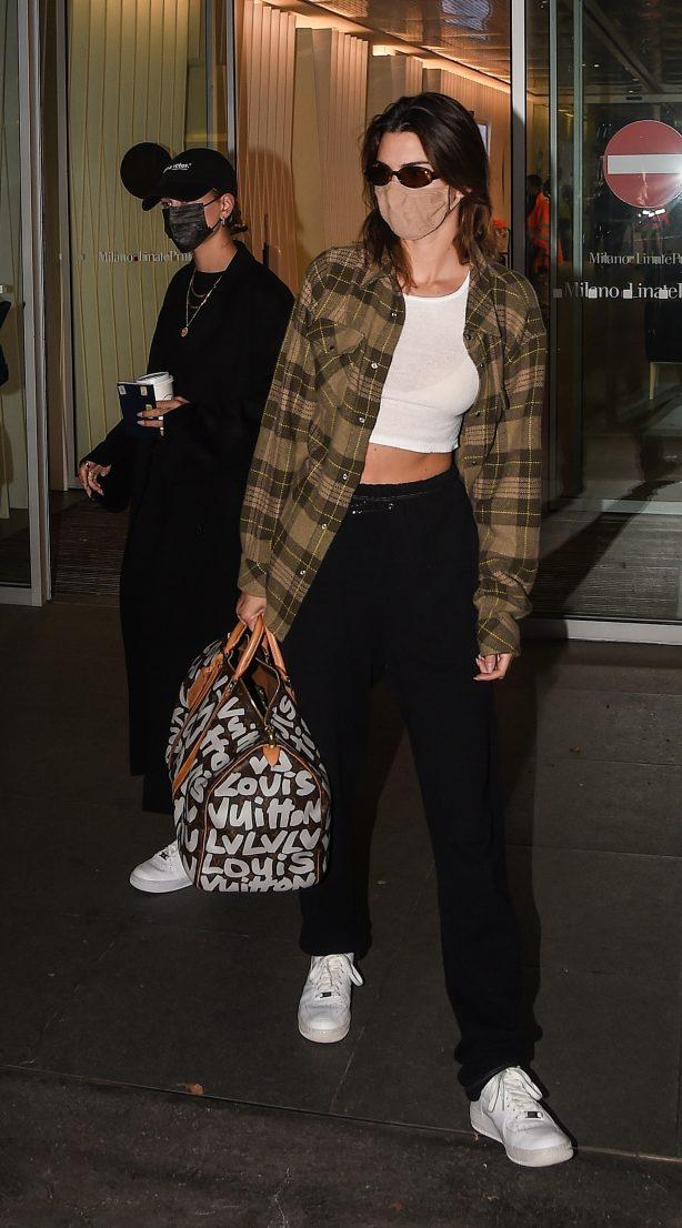 Hailey Bieber and Kendall Jenner - 2020 Milan Fashion Week in Milan
