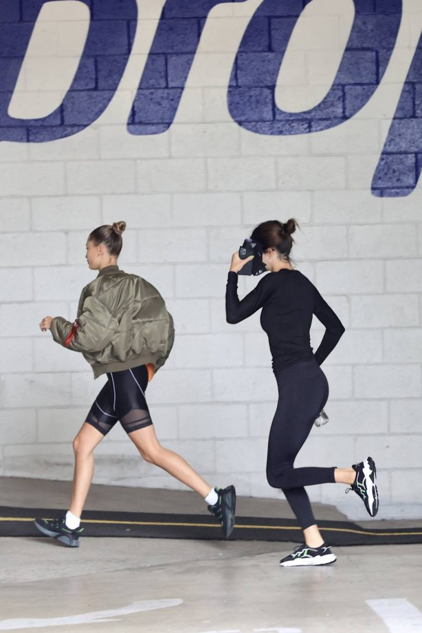 Hailey Bieber and Kendall Jenner - Hitting the gym together in Beverly Hills
