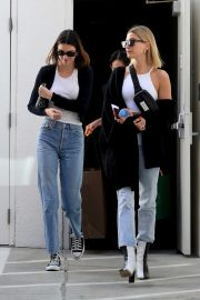 Hailey Bieber and Kendall Jenner - Leaving Goyard in Beverly Hills