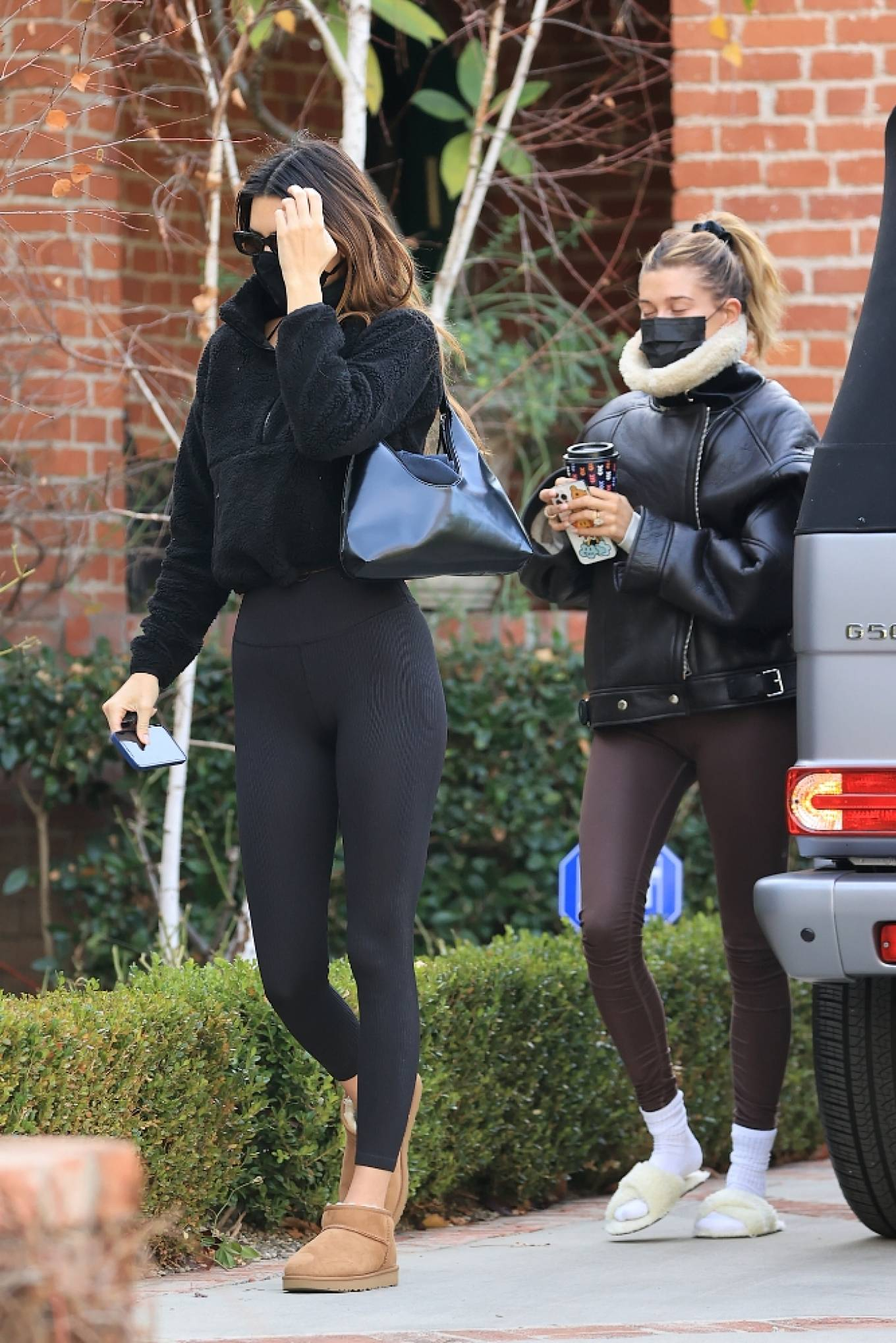 Hailey Bieber and Kendall Jenner - Out for a workout session in Los Angeles