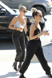 Hailey Bieber and stylist - Arrives at Office in West Hollywood
