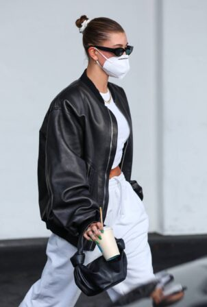 Hailey Bieber - Arrives at a medical building in Beverly Hills